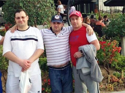 Слева воры в законе: Алексей Гудына (Леха Иркутский), Махаре Гварамия (Мацик Сенакский), Ражидин Михралиев (Раджик Нижневартовский)