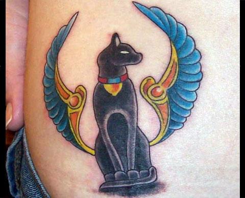 Тату египетская кошка
