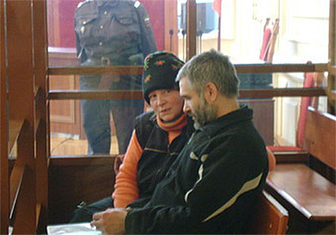 Владимир Гурьянов и Эльвира Егорычева на суде