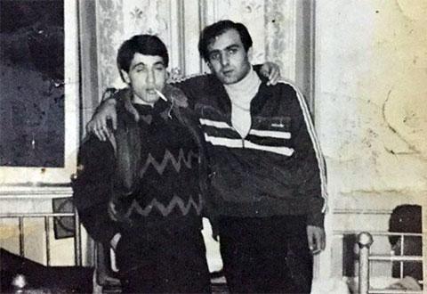 Слева воры в законе: Нодар Джинчвелашвили (Шошия) и Паата Убилава,