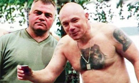 Слева криминальные авторитеты: Александр Иванович Костенко (Лом) и Анатолий Осипов
