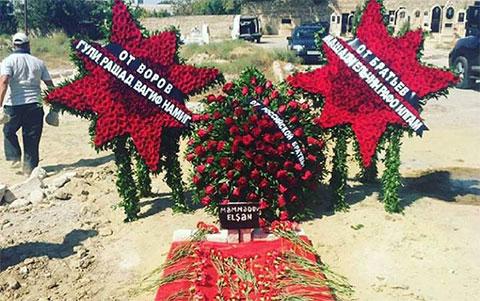Могила Эльшана Мамедова в бакинском поселке Амирджан