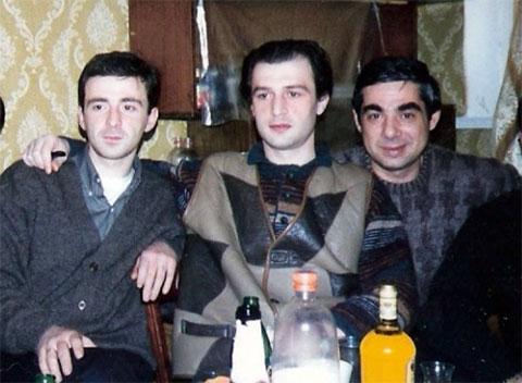 Слева воры в законе: Платон Мамардашвили (Паата), Тенгиз Луарсабишвили и Рауль Кирия