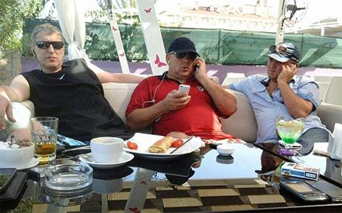 Слева воры в законе: Заур Гвадзабия (Заур Сухумский), Владимир Жураковский (Вова Пухлый) и Махаре Гварамия (Мацик Сенакский)