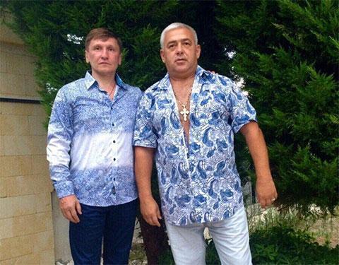 Слева воры в законе: Александр Кушнеров (Саша Кушнер) и Владимир Жураковский (Вова Пухлый)