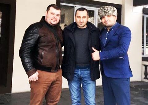 Слева: вор в законе Давид Алханашвили - Дато Панкисский